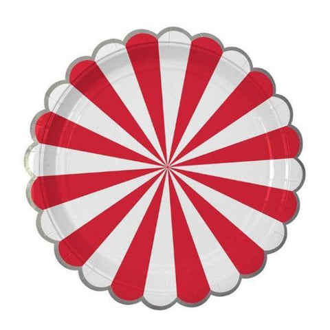 RED STRIPE LARGE PLATES