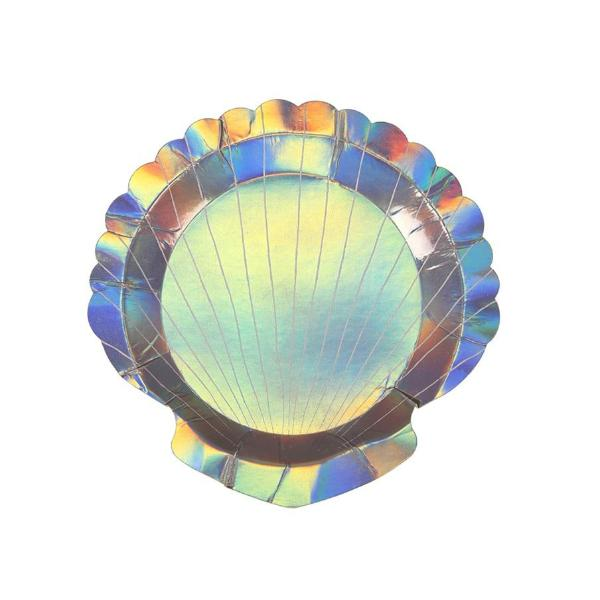 IRIDESCENT SEASHELL DIE CUT SMALL PLATES