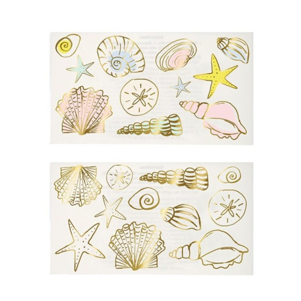 TEMPORARY TATTOOS - SEASHELLS