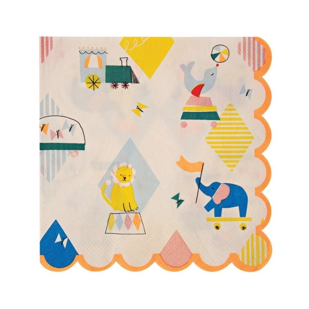 SILLY CIRCUS LARGE NAPKINS