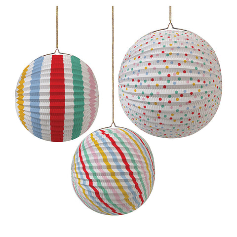 PAPER GLOBES - SPOTS AND STRIPES