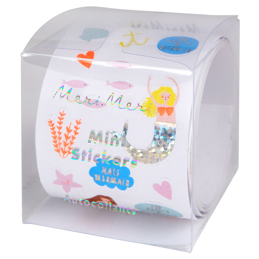 MINI STICKER ROLL  - MERMAIDS AND UNDERSEA CREATURES