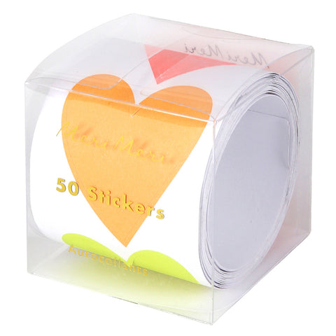 STICKER ROLL - LARGE NEON HEARTS