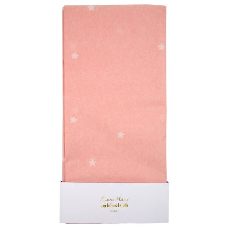 SCATTERED STARS PINK TABLE COVER