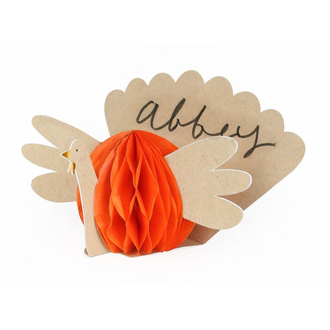 THANKSGIVING HONEYCOMB PLACE CARDS