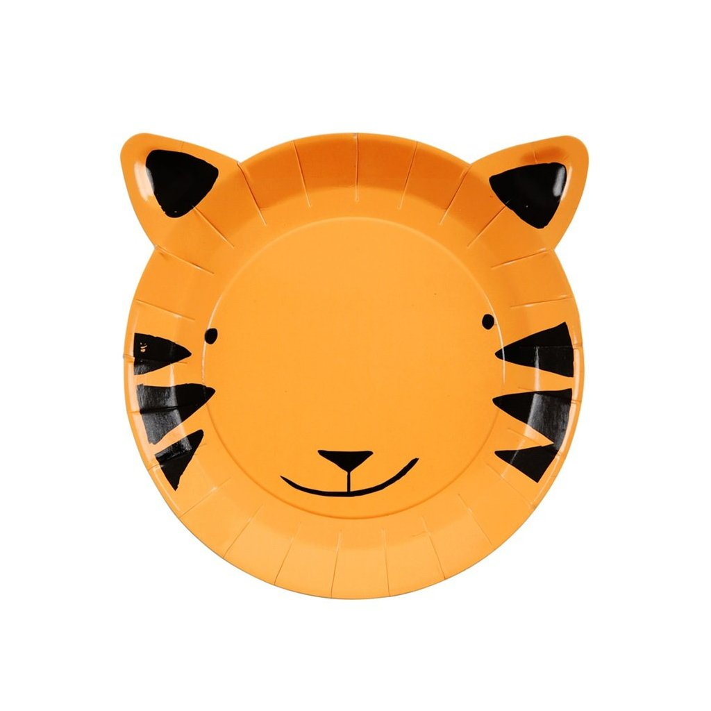 TIGER DIE CUT SMALL PLATES