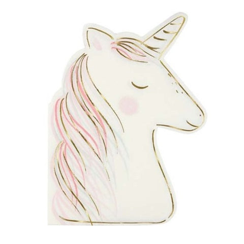 UNICORN DIE CUT LARGE NAPKINS