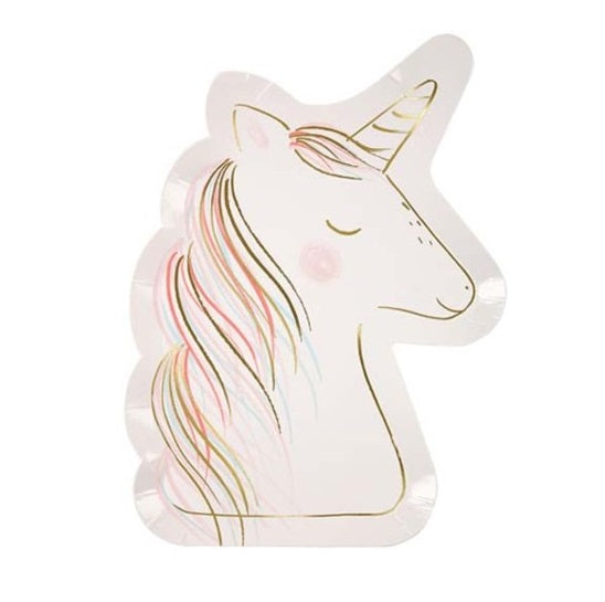 UNICORN DIE CUT LARGE PLATES