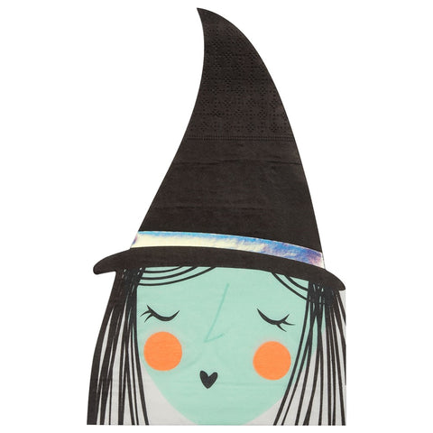 WITCH DIE CUT LARGE NAPKINS