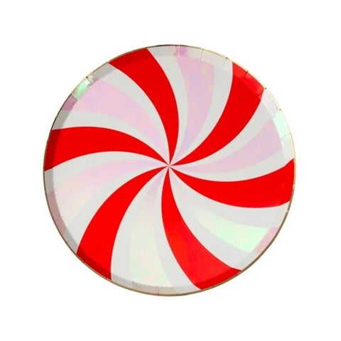 PEPPERMINT SWIRL SMALL PLATE