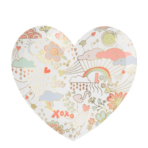 DOODLE HEART LARGE PLATE