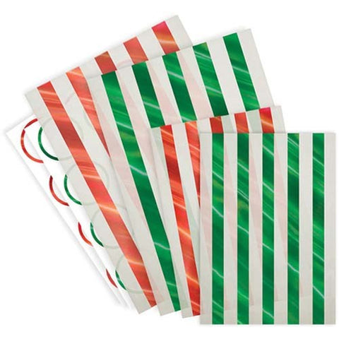 TREAT BAGS - HOLIDAY STRIPE