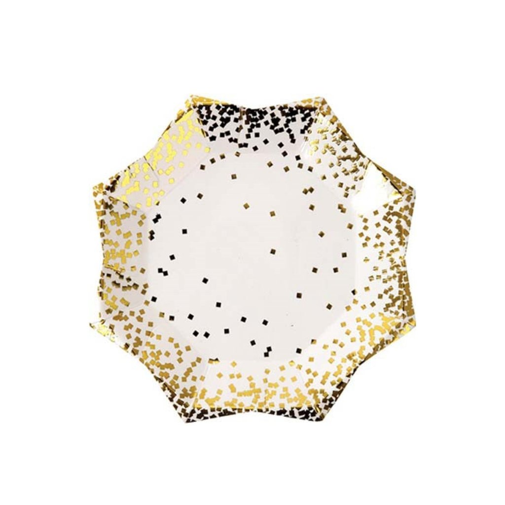 GOLD CONFETTI SMALL PLATES