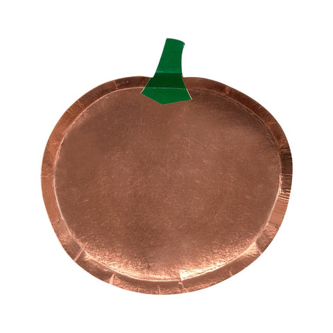 METALLIC PUMPKIN LARGE PLATES