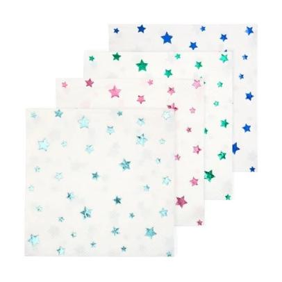 METALLIC JEWEL STAR COCKTAIL NAPKINS