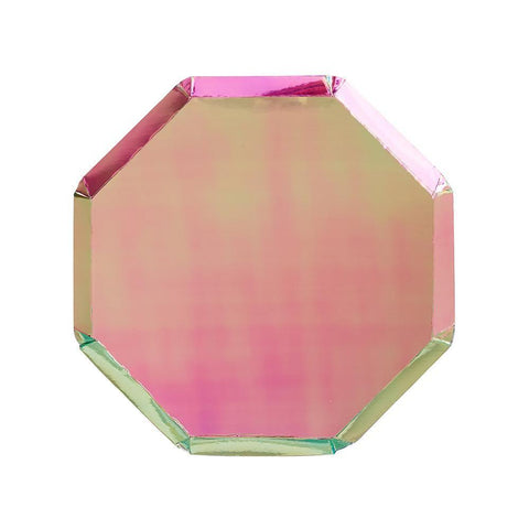 OIL SLICK OCTAGONAL SMALL PLATES