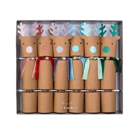 RAINBOW REINDEER HOLIDAY CRACKERS