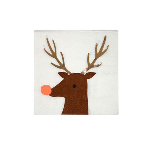 REINDEER COCKTAIL NAPKINS
