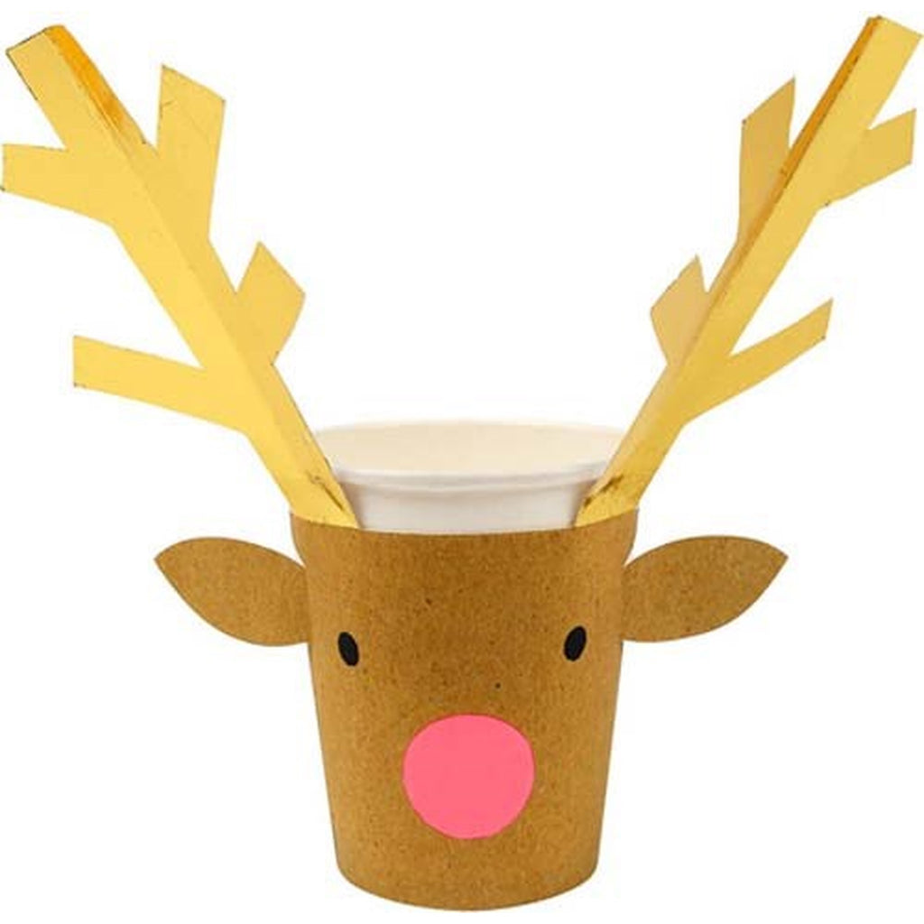 REINDEER WRAPPED CUPS