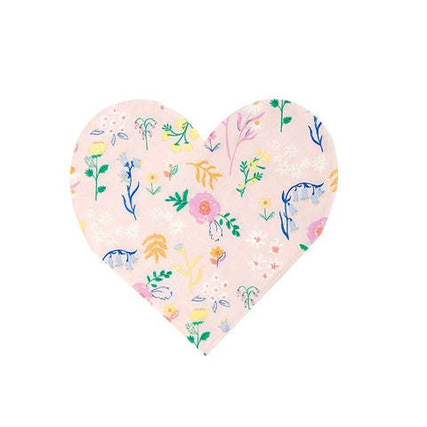 WILDFLOWER HEART COCKTAIL NAPKINS