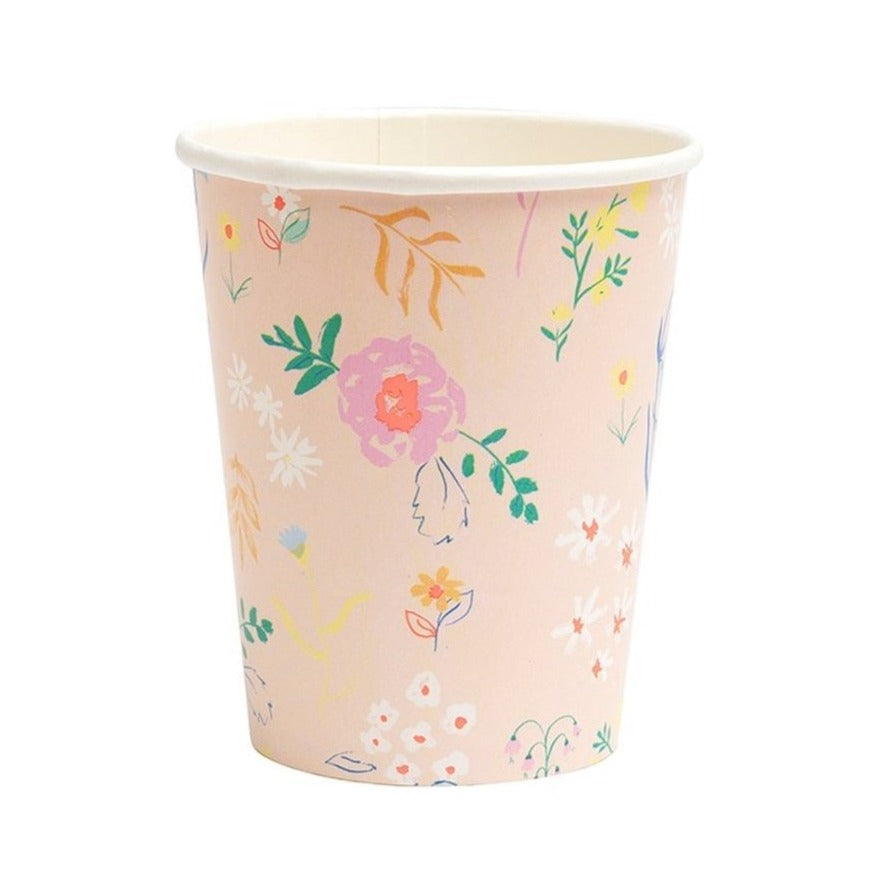 WILDFLOWER ASSORTED PASTEL CUPS