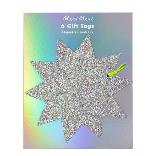 GIFT TAG - LARGE GLITTER STAR