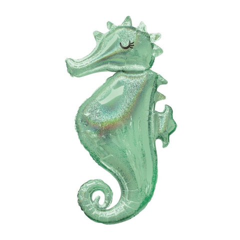 SEAHORSE HOLOGRAPHIC MYLAR BALLOON