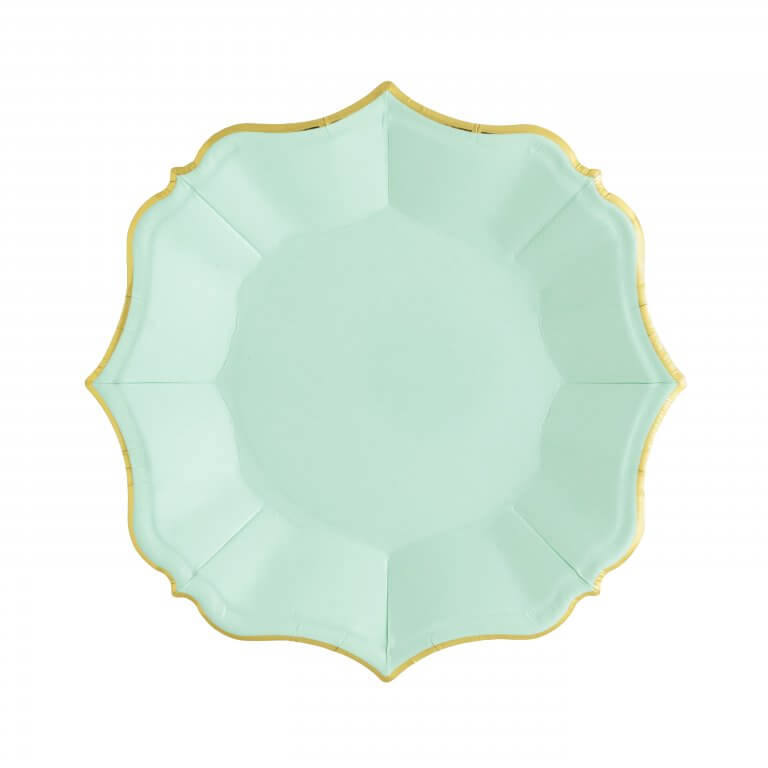 MINT SCALLOPED SMALL PLATES