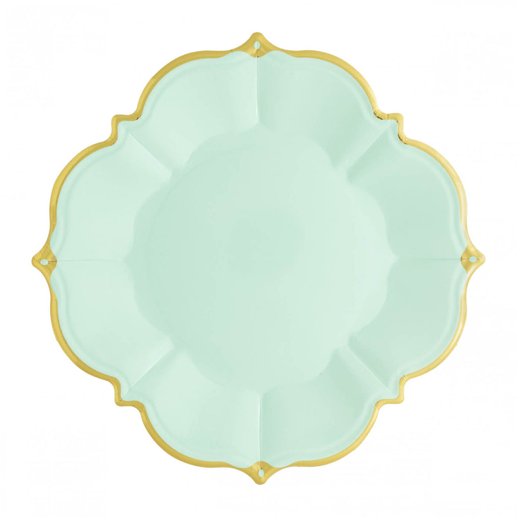 MINT SCALLOPED LUNCHEON PLATES