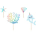 NARWHAL AND SEA CREATURES CAKE TOPPERS