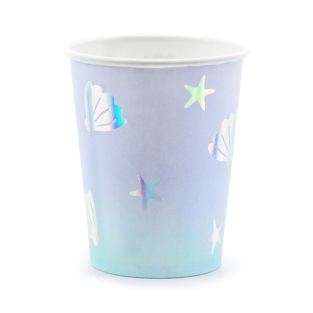 Narwhal undersea pattern party cups