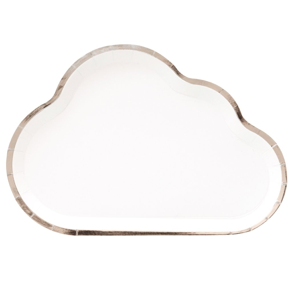 CLOUD WITH SILVER LINING LARGE PLATES