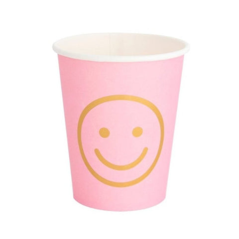 BLUSH SMILEY FACE CUPS