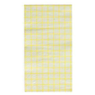 GREY & CHARTREUSE GRID DINNER NAPKINS