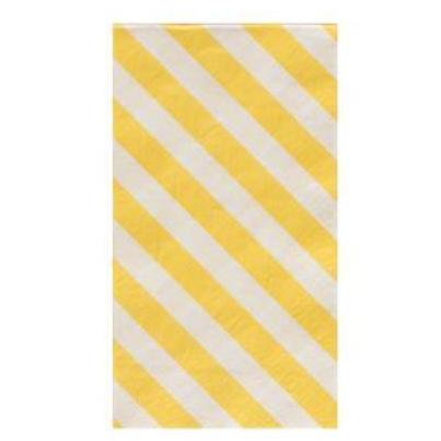 YELLOW STRIPES DINNER NAPKINS