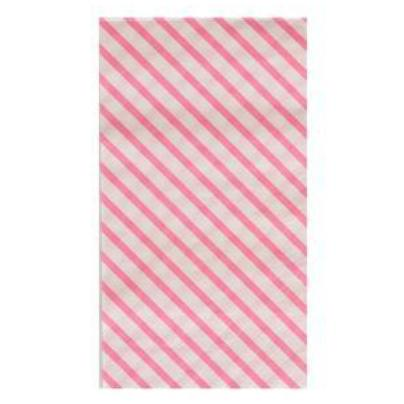 NEON ROSE STRIPES DINNER NAPKINS