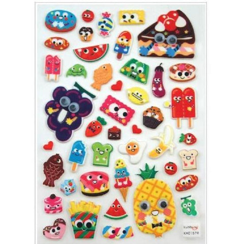 STICKERS - ITSY BITSY GOOGLY EYED FOOD