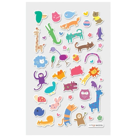 Wacky Wildlife Mini Stickers