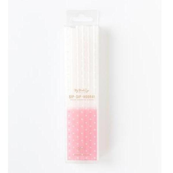 STRAWS - COLOUR CHANGING PINK DOT