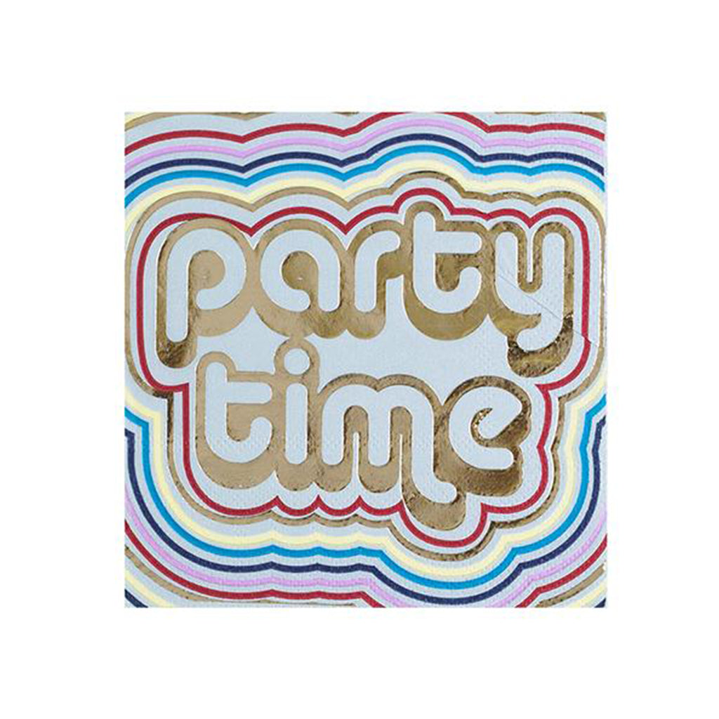 PARTY TIME DISCO NAPKINS