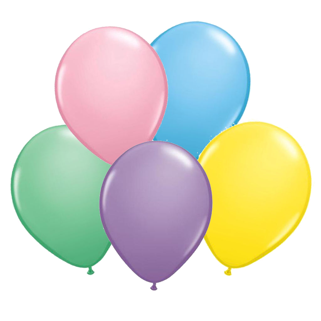 SOLID PASTEL LATEX BALLOON BUNDLE 11""