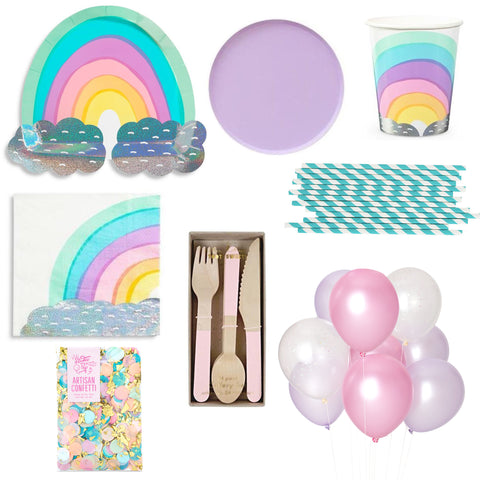 PASTEL RAINBOW PARTY BOX FOR 8