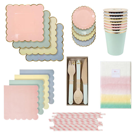 PRETTY PASTELS PARTY BOX FOR 8
