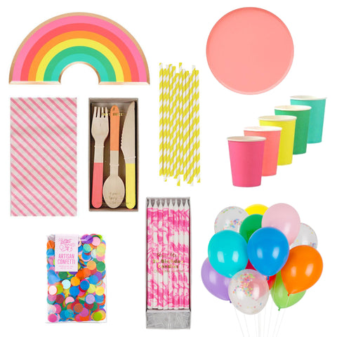 RAINBOW BRIGHT PARTY BOX FOR 8