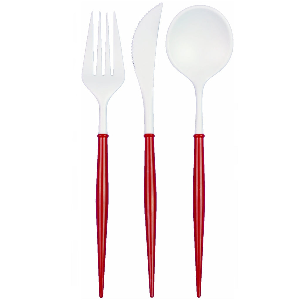 BELLA RED PREMIUM REUSABLE CUTLERY