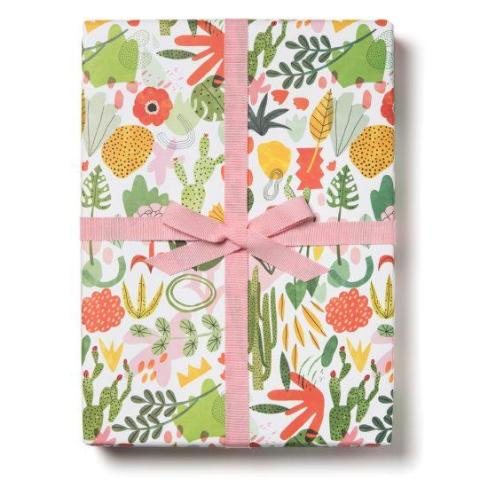 SUCCULENT GARDEN WRAPPING PAPER 3-SHEET ROLL
