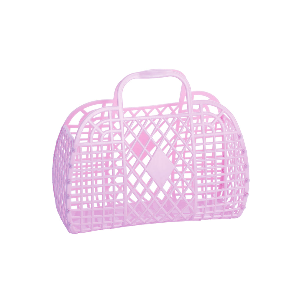 SUN JELLIES SMALL RETRO BASKET - LILAC