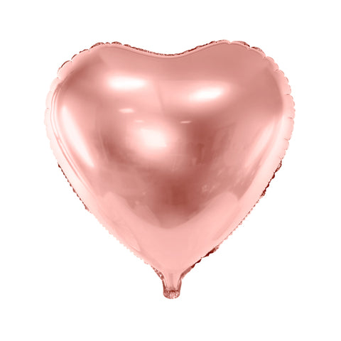 HEART FOIL BALLOON - ROSE GOLD