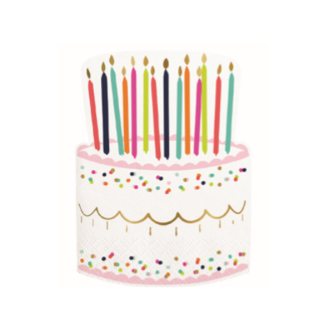 BIRTHDAY CAKE DIE CUT NAPKINS