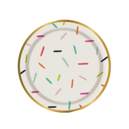 MULTICOLOURED CONFETTI SMALL PLATES